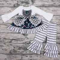 Autumn winter newborn baby girls clothes outfits cute kids wholesale boutique girl clothing sets baby outfits with pocket