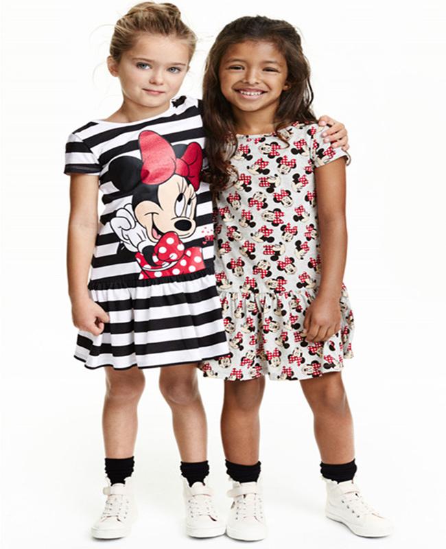 Bebe Criancas Meninas Desenho Vestido Minnie Grelhas De Natal