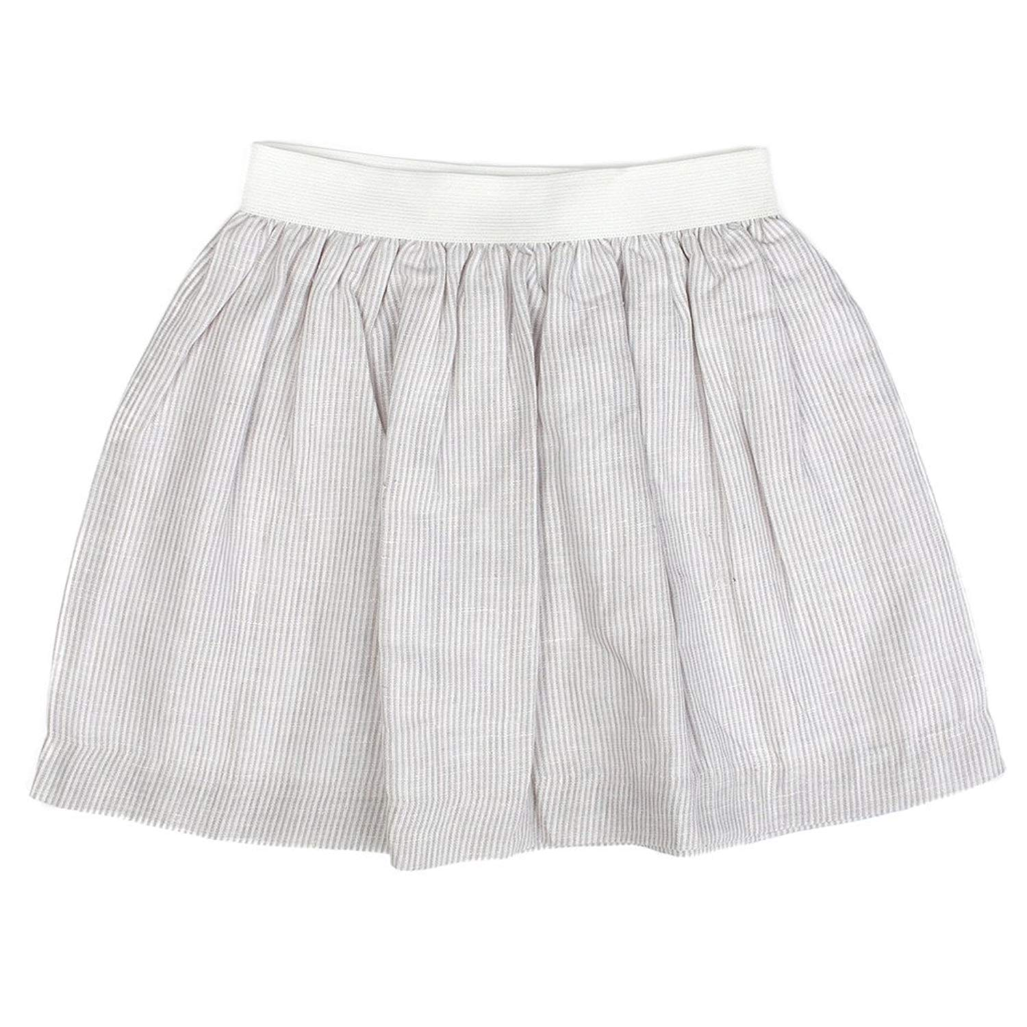 Piccino Piccina P&P Baby Girl Classic Spring Skirt - Family Outing Tan, 7 Years