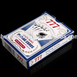 Waterproof 100% Plastic Custom Poker Cards 777 Playing Cards