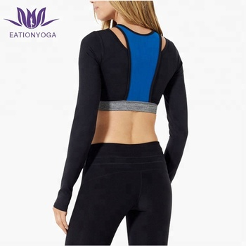 Sports Workout Yoga Shirt Long Sleeve Crop Tops Buy Sublimation