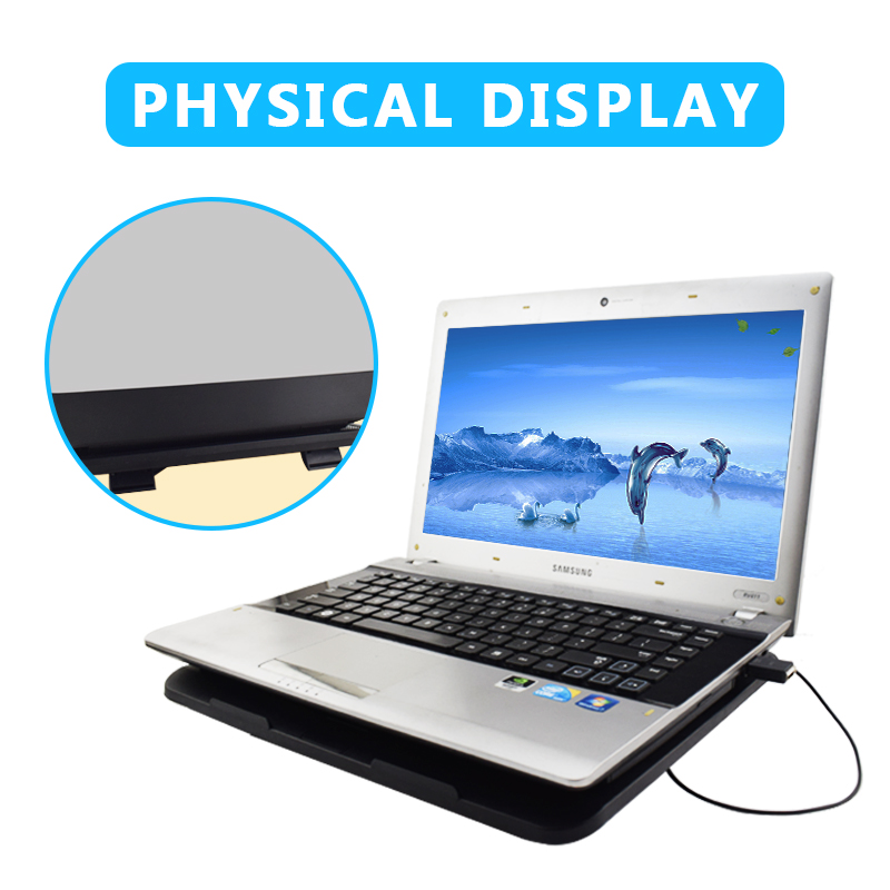 NEO STAR Ultra Thin USB Cooling Fan With Holder Noise Free Strong Air USB Cooling Pad For Laptop PC