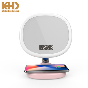KH-LP008 KING HEIGHT Chinese Bedside Adjustable LED Fancy Table Phone Wireless Charging Lamp