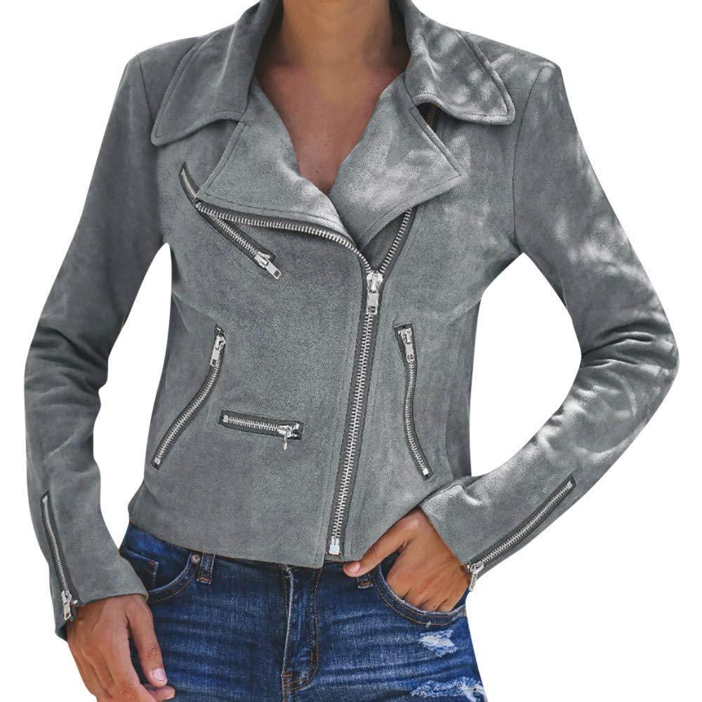 Kamendita Women Coats Winter, Women's Ladies Retro Zipper Up Bomber Jacket Casual Coat Outwear Jacket Coat