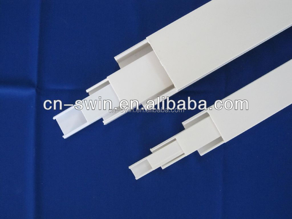 Superior white PVC square pipe size/pvc electrical trunking