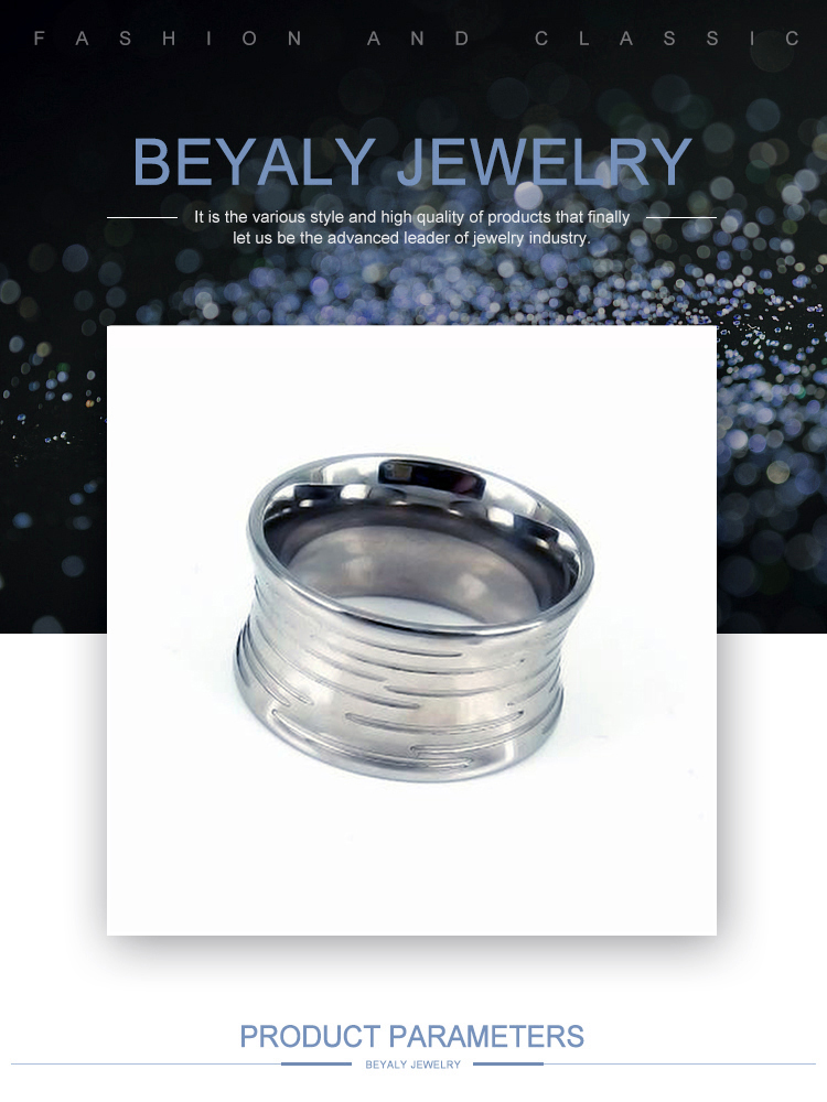 Fashion best price popular men blank stainless steel ring
