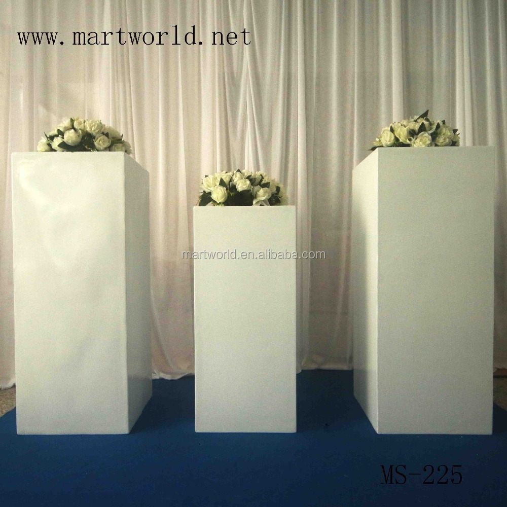 Square White Wedding Pillar Wedding Decoration Vase For Party