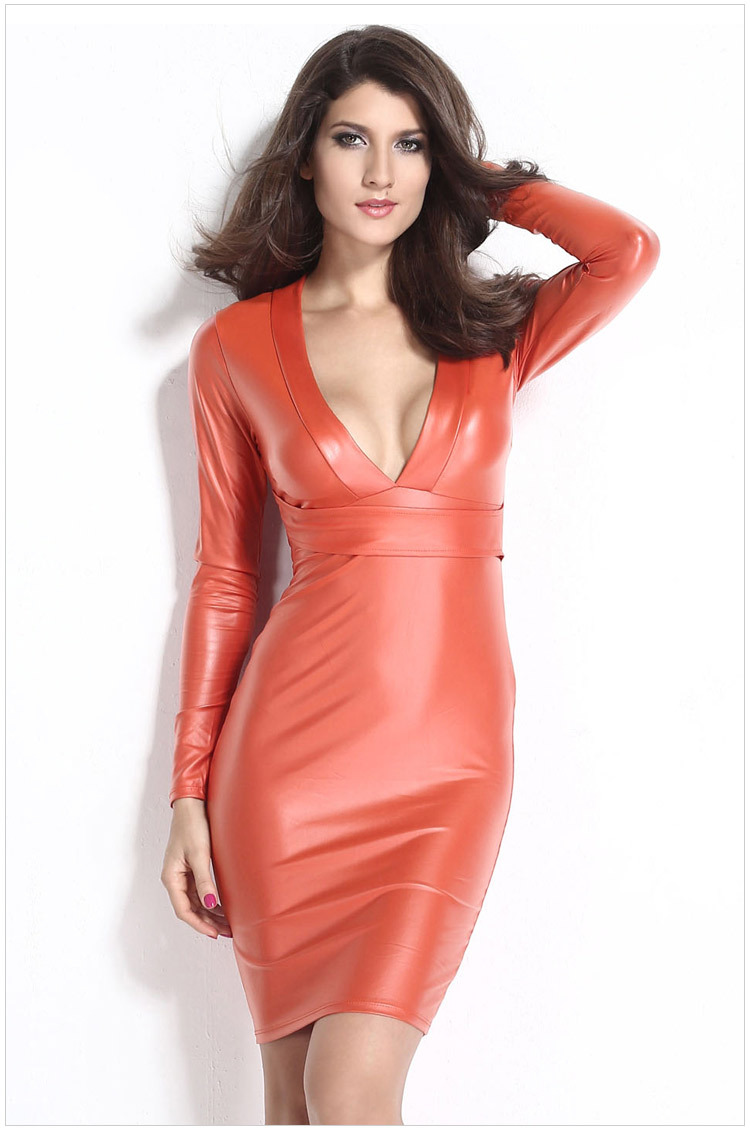 woman dress autumn 2015 Womens Sexy Dresses Party night club dress 2015  long sleeve  Deep V party evening elegant dress