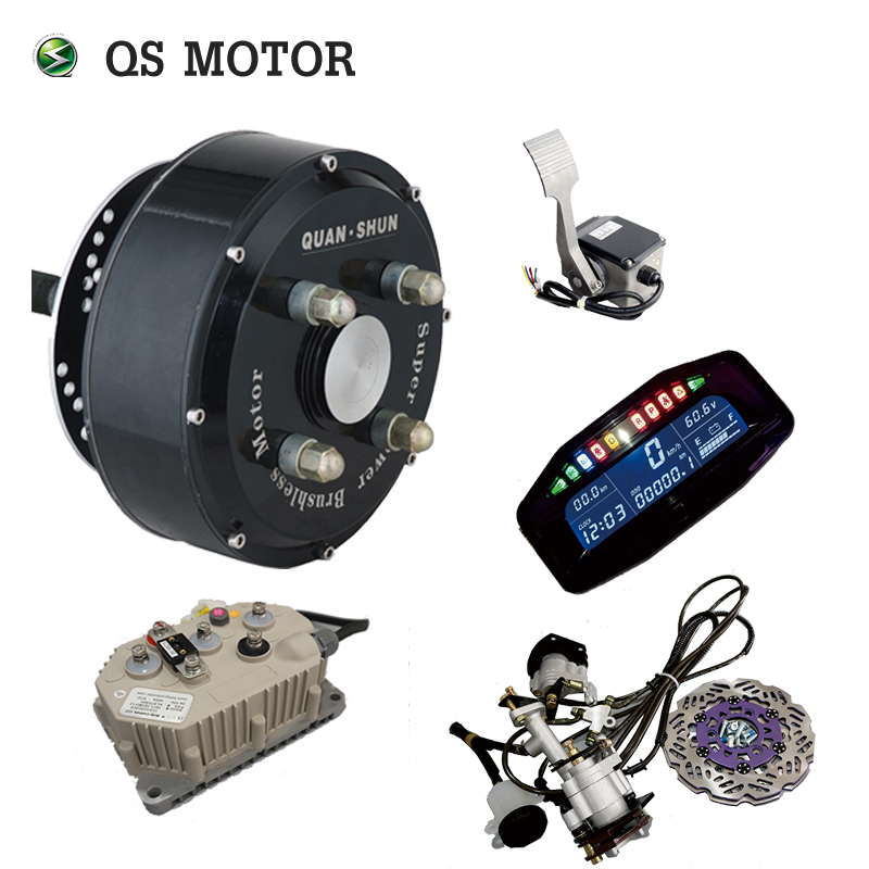 QS 205 72 V 90KPH Elettrico Mini Motor Kit di Conversione 3000 W Brushless Hub Motor Kit di Conversione Per Auto