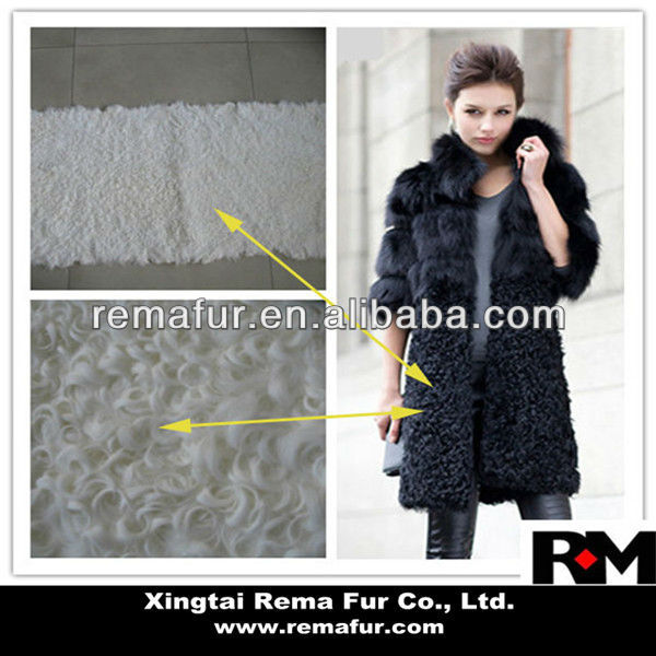 Top quality dyed Kalgan Lamb Fur Plate for clothes