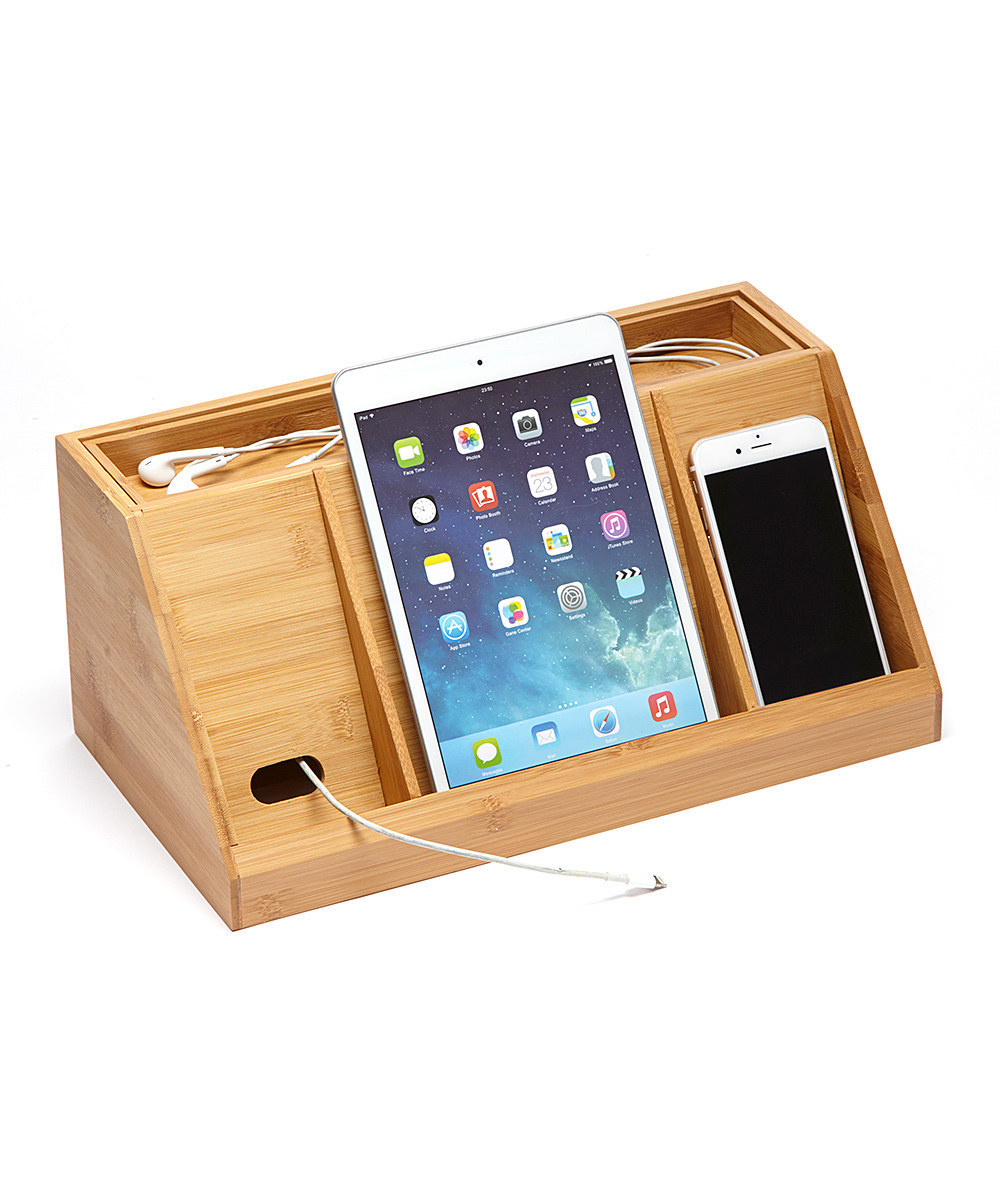 Gadgets Desktop Organiser Cable Tidy With A Drawer Holes