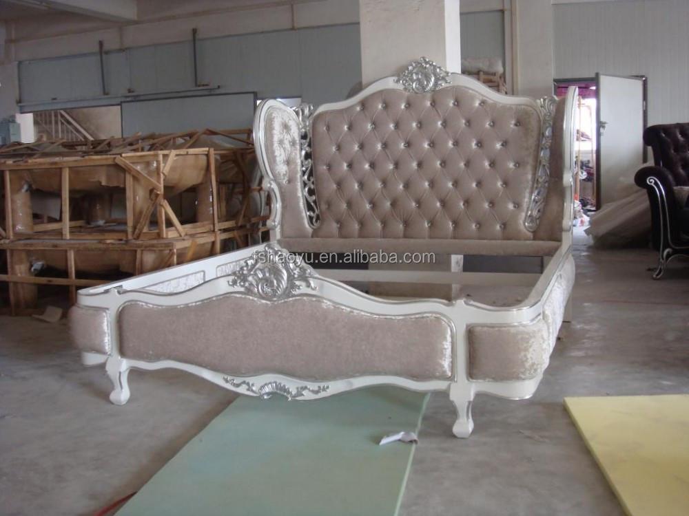 Antiguo cama de madera de estilo antiguos de madera - Cama antigua de madera ...