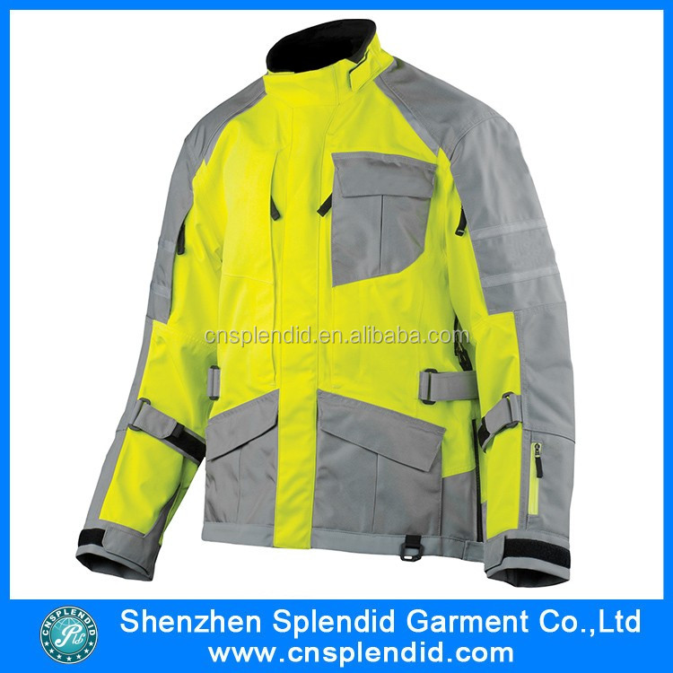 China manufacture winter man sports hi vis motorcycle apparel