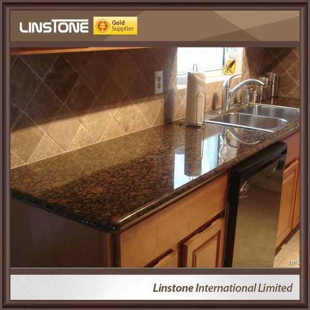 Cheap Tan Brown Granite Countertops Kitchen Price For Sale