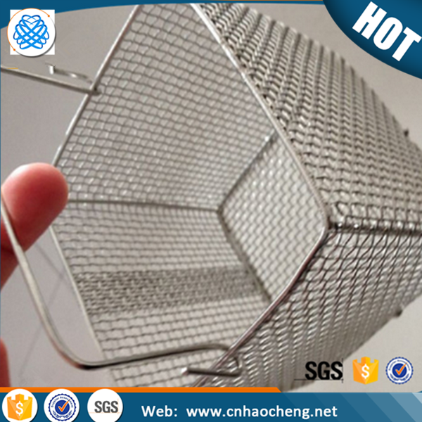 China supply 304 stainless steel wire mesh fruit basket with lid lock net cover