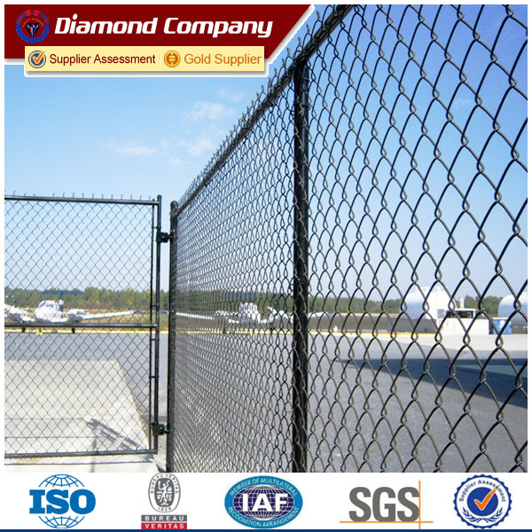 6ft Factory Black Vinyl Coated Galvanized Chain Link Fence