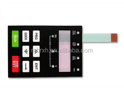 Custom made LED backlit PET/PC Numeric Keypad Control Panel Membrane Switch Keyboard