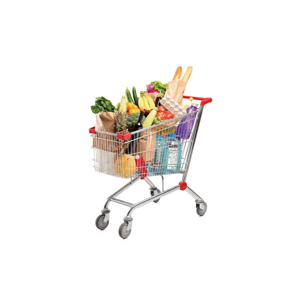 Supermarket Shopping Trolley/Shopping cart/Chromed hand trolley