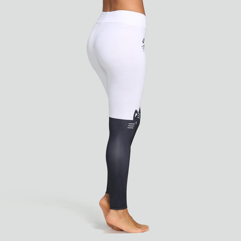 b0bf874b4 2019 Ropa Juvenil Mujer Cat Print Yoga Leggings Pantacourt Femme ...