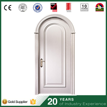 French Style Arch Main Door Design Villa Front Decorative Round Top Wooden Entry  Door