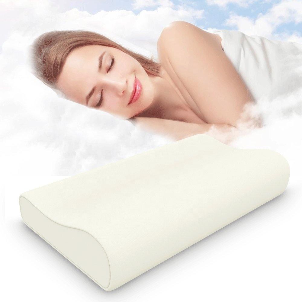 Prime Comfortable Non-Toxic Bamboo Memory Foam Contour Pillow for Bedding