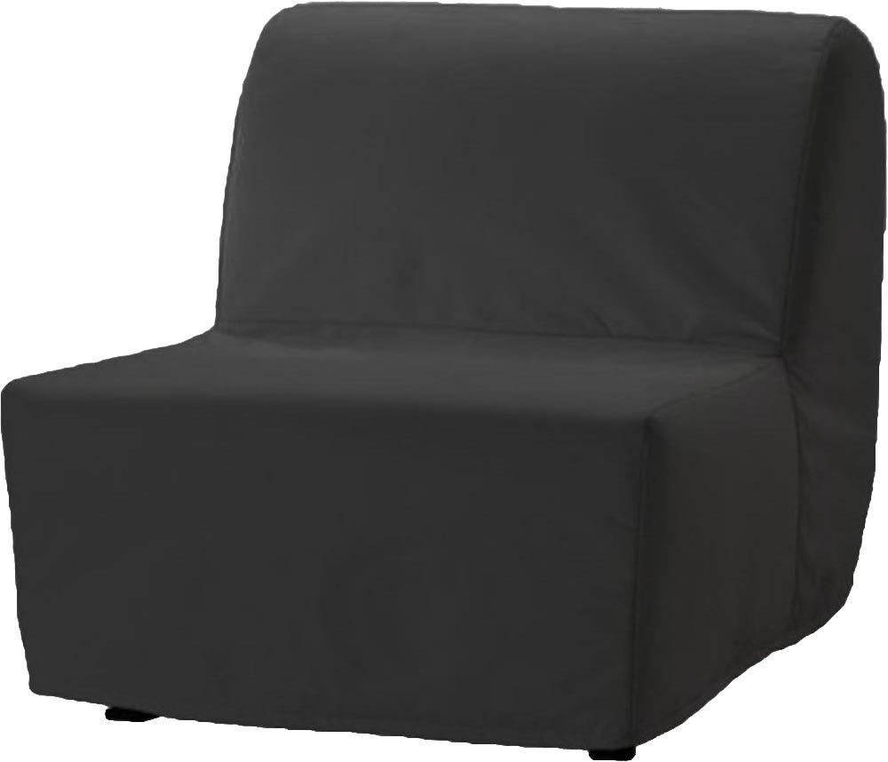 The Dense Cotton Lycksele Chair Bed Sofa Replacement is Custom Made for Ikea Lycksele Single Sleeper Or Futon. A Lycksele Slipcover Replacement (Dark Gray)