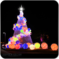 Outdoor decorations holiday lighting 20ft 30ft 40ft 50ft giant outdoor lighting christmas tree