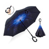 UV Protection Big Straight Umbrella for Car Rain Outdoor With C-Shaped Handle and Carrying Bag
