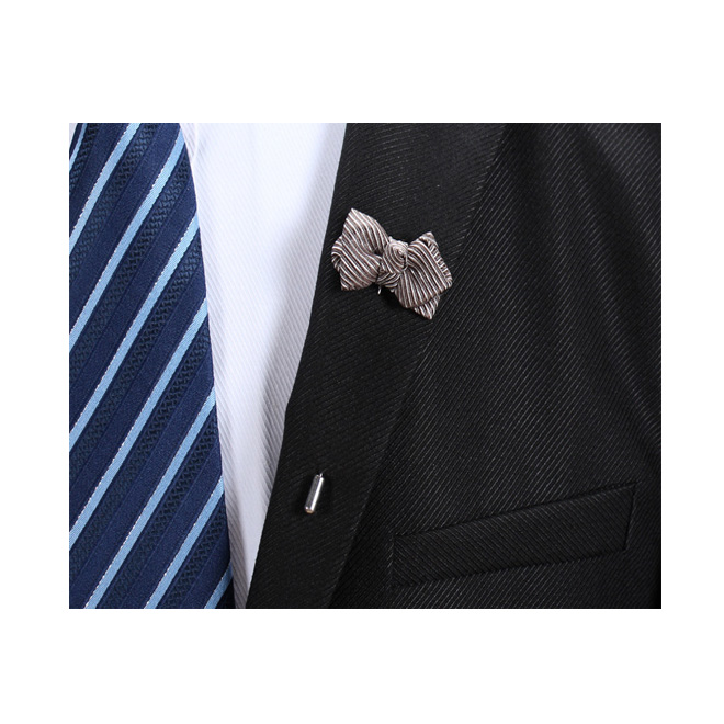 High quality custom handmade mens flower lapel pin brooch for suit