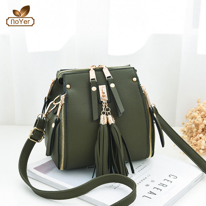 Korea college girls leather shoulder long strip bags with double zipper pu women backpack