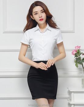 para OL de de traje 2017 trabajo camisa traje verano Mujer falda mujer de uniforme qzqf87S