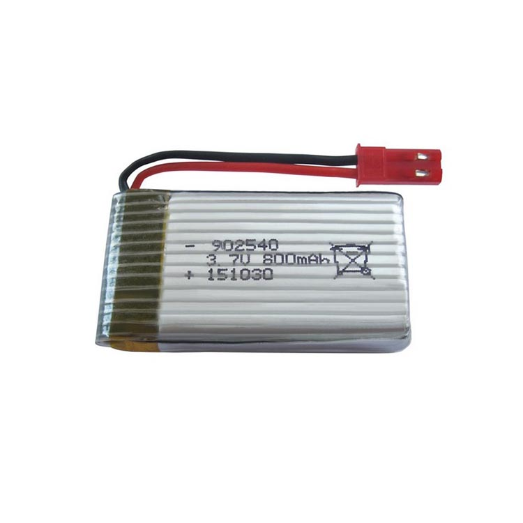 High power 902540 3.7V li-polymer rc helicopter battery 800mAh for Syma X5HC X5HW drone