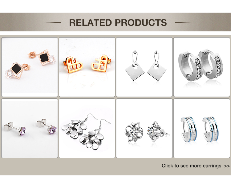 New style 304L stainless steel cute pendant earings for women 2018