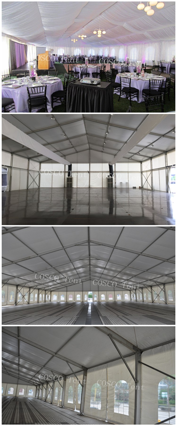 Special large outdoor curved event tent for exhibition