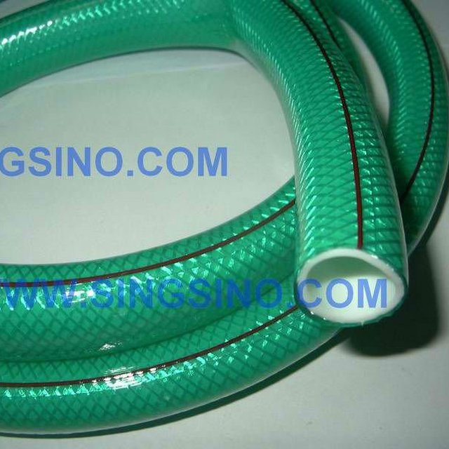 Lovely PVC Fabric Braided Water Coiled Clear Water Pipe Garden Hose