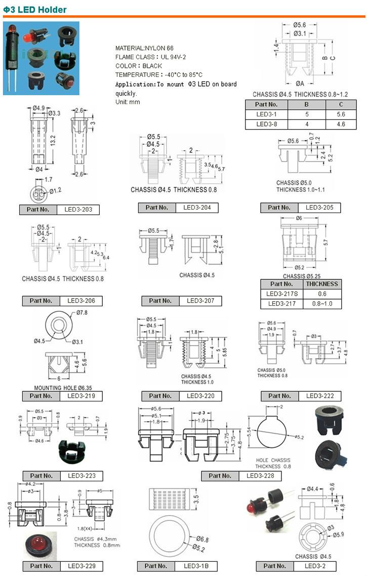 3mm 5mm Plastic Led Holder Nylon Led Holder/led Spacer - Buy Led