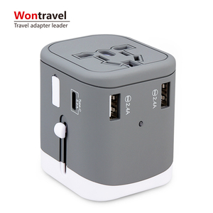 4 USB power adapter universal travel charger with Type-C adapter Multi Plug Mobile Phone Accessories fast adapter