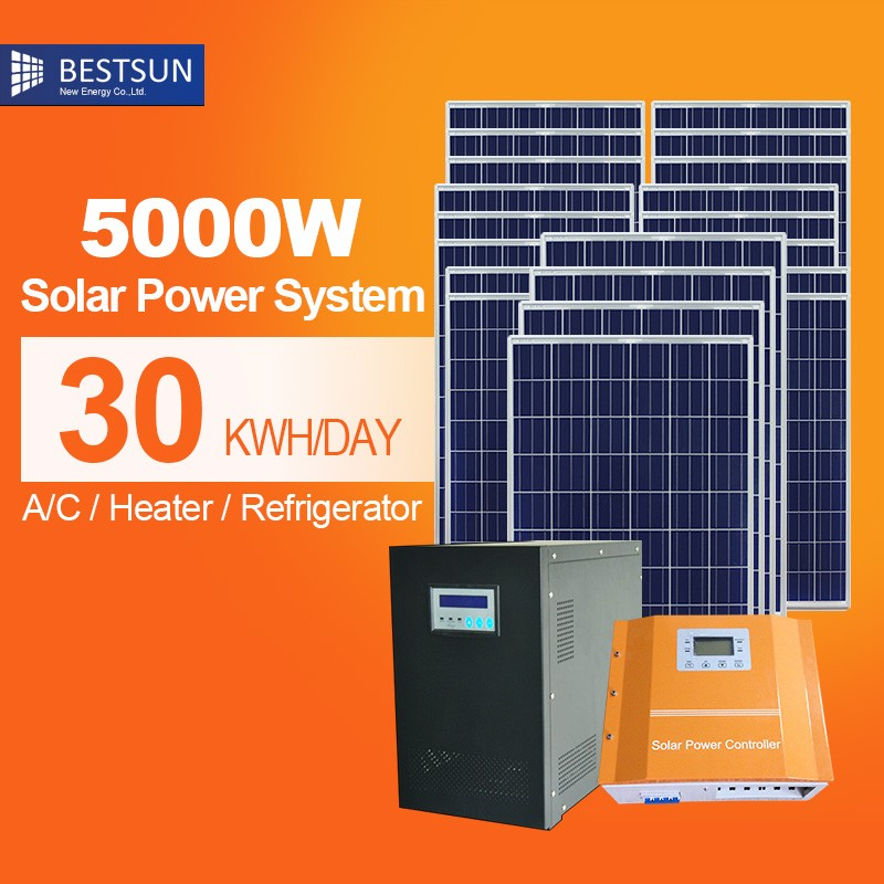 Free <strong>energy</strong> Stand alone 5kw solar power system inverter pv panels kits off grid solar system for home