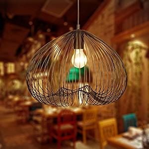 Retro Dining Room Chandelier 3838cm Wrought Iron Chandeliers To Simple Hanging Chain Adjustable 1M