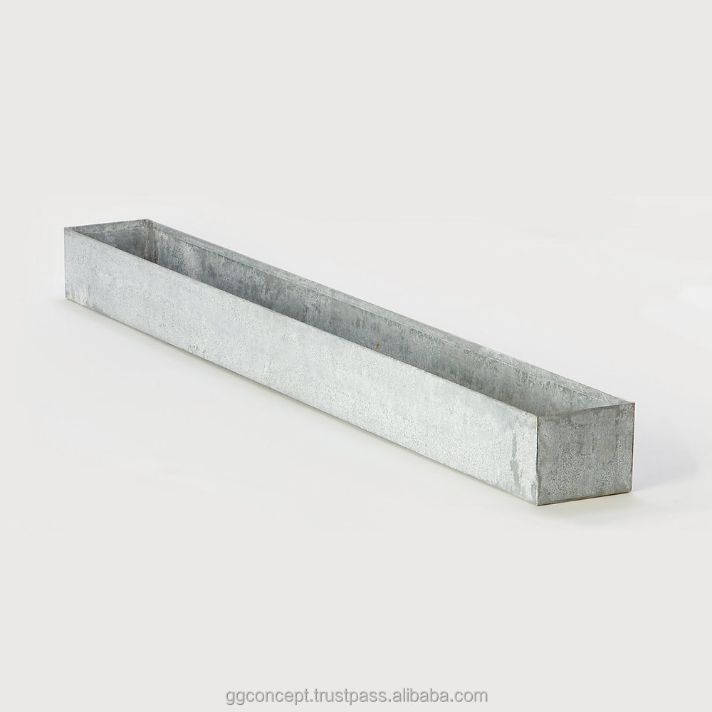 Zp103 - Galvanized Trough Planter/ Zinc/ Metal Bucket/square ... on square aluminum planters, square iron planters, square stone planters, square brass planters, square outdoor planters, square tin planters, square terracotta planters, square fiberglass planters, square lead planters, square plastic planters, square white planters, square garden planters,