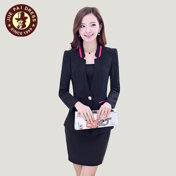 2017 Frauen Buro Fashion Arbeit Uniform Elegante Dame Buro Uniformen