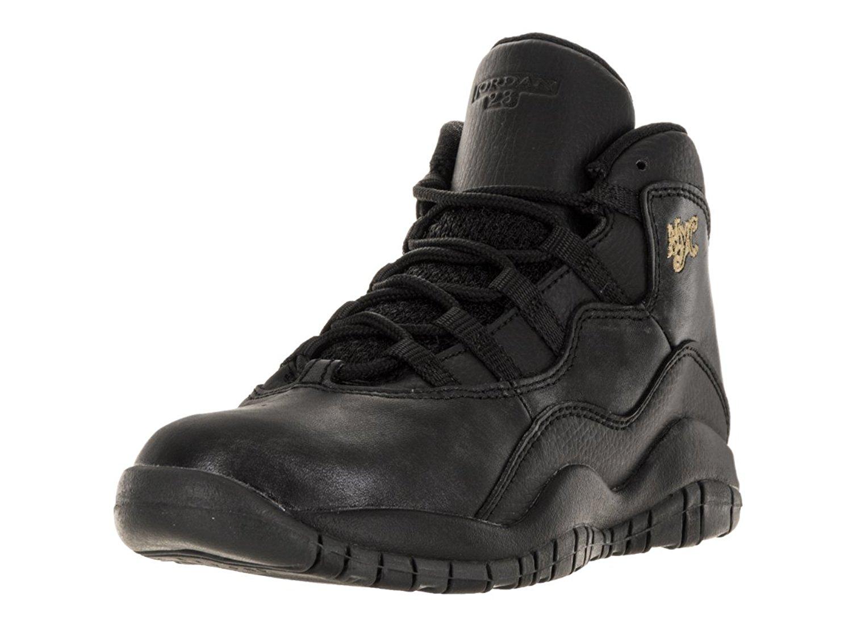 f829b617721d Get Quotations · Nike Jordan Kids Jordan 10 Retro Bp Black Black Drk  Grey Mtllc Gld