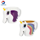 Amazon Hot Sale Gift Magic Heat Sensitive Ceramic Coffee Mugs 3D Unicorn Color Changing Mug