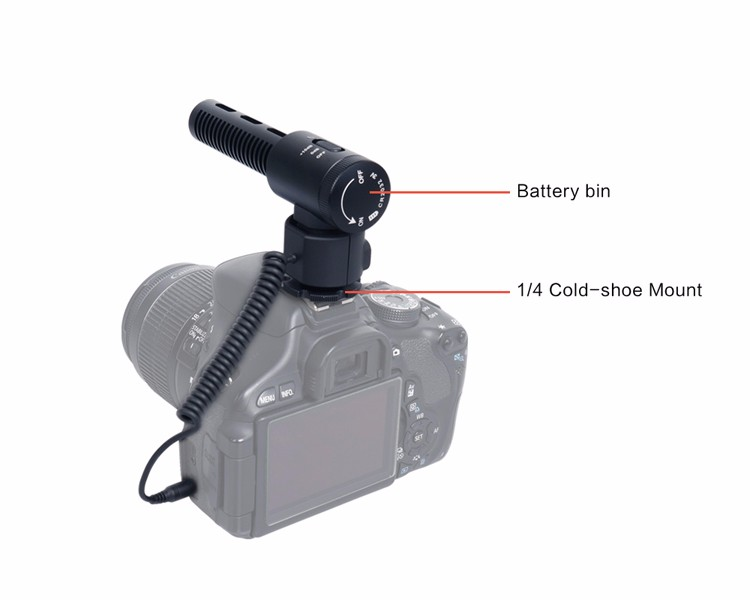 CoMica CVM-V20 Super Cardioid Professional Boom Mic Shotgun Microphone for Video Recording