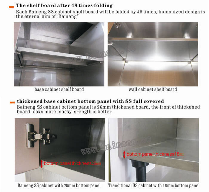 top grade stainless steel water resistant kitchen cabinet made in ...
