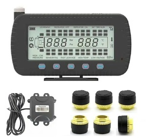 Tire pressure Gauge monitoring system 6~46 tires external/internal sensor truck/BUS TPMS with RS232 port integrated with GPS