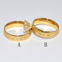 high quality couple wedding ring sets yellow gold in hot sale