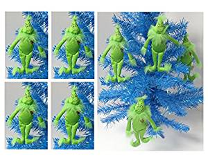 "Dr. Seuss The Grinch Who Stole Christmas 4 Piece Plush Holiday Christmas Ornament Set Featuring 4 Grinch Ornaments Ranging from 7"" to 8"" Tall"