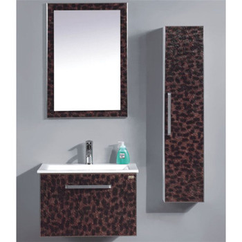 Por Wall Mounted Small White And Red Bathroom Vanity With Side Cabinets Cabinet Bath