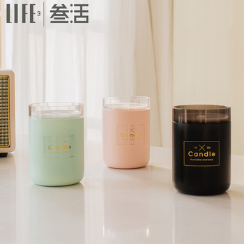 2019 hot new products led candle ultrasonic aroma diffuser machine air mini humidifier for room with warm led light